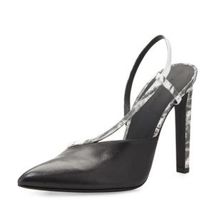 ALEXANDER WANG Kayla Asymmetric Leather Slingback